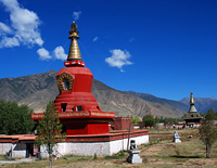 Red Stupa, one of the 4 main stupas
