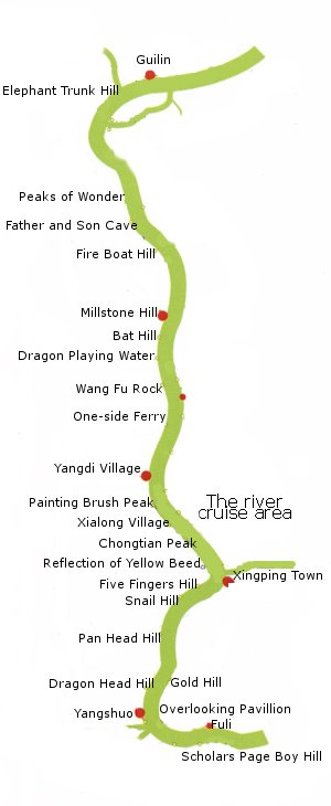 Li River Cruise Route