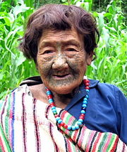 Tattooed Dulong Woman